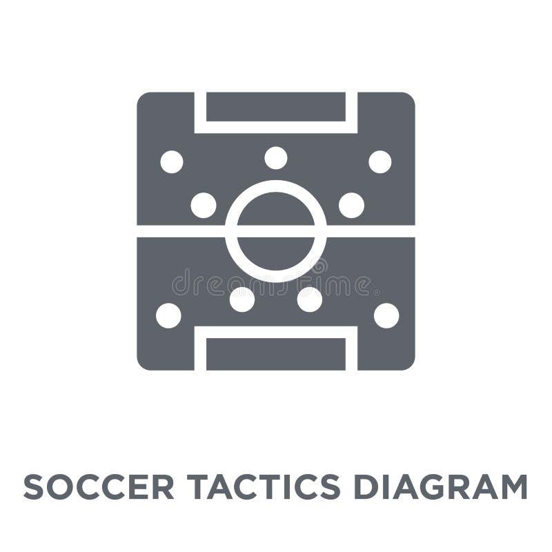 Icono del diagrama de las táctica del fútbol de la colección de la productividad libre illustration