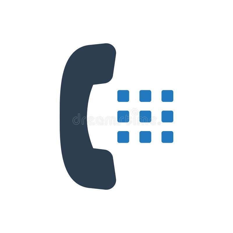 Icono del dial de teléfono stock de ilustración