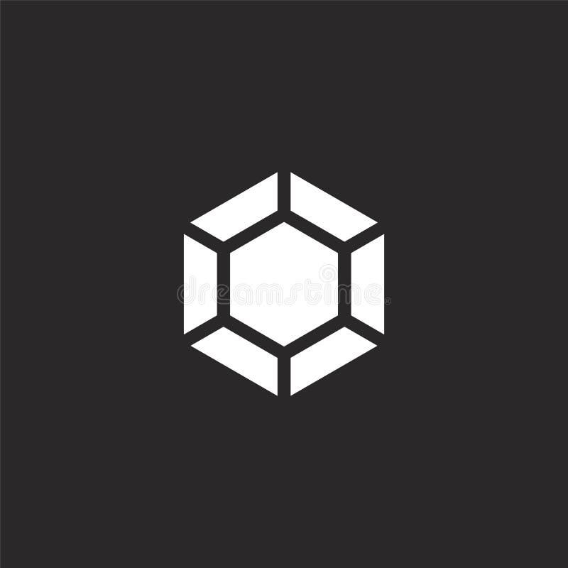 Icono del diamante Icono llenado del diamante para el diseño y el móvil, desarrollo de la página web del app icono del diamante d libre illustration
