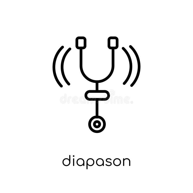 Icono del Diapason de la colección de música ilustración del vector