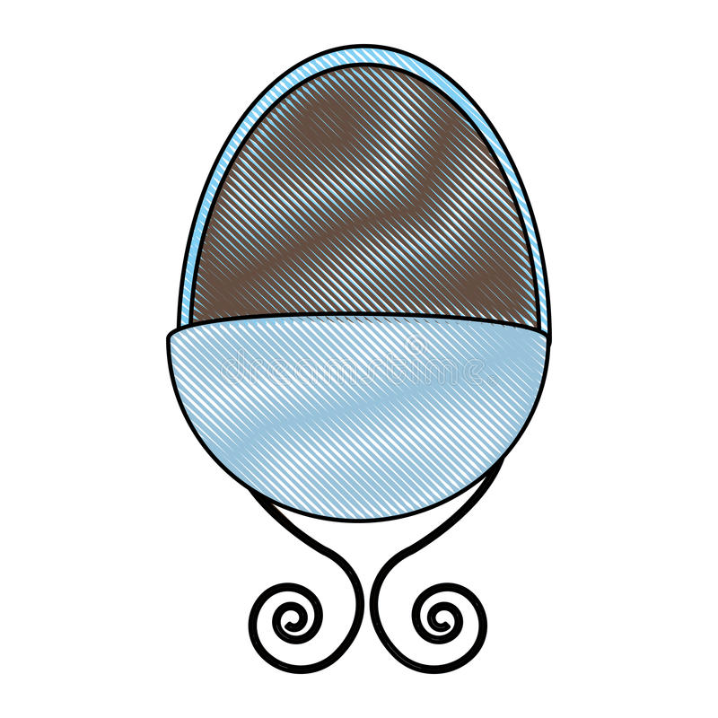 Icono del dibujo del pesebre del bebé stock de ilustración