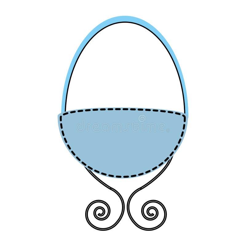 Icono del dibujo del pesebre del bebé ilustración del vector