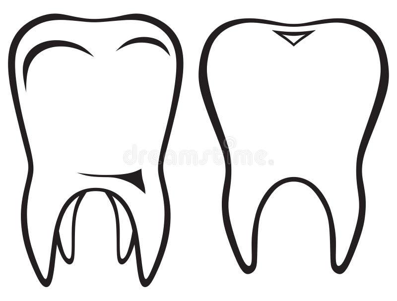Icono del diente stock de ilustración