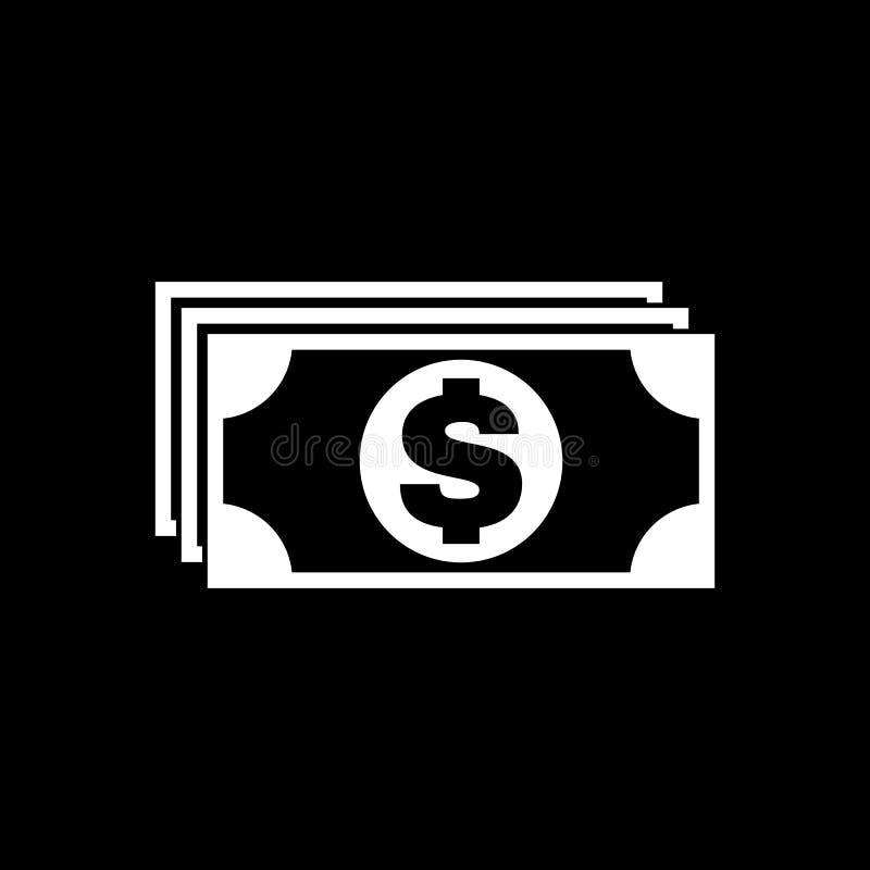 Icono del dinero D?lar y efectivo, moneda, moneda, s?mbolo del banco Dise?o plano Acci?n - vector libre illustration