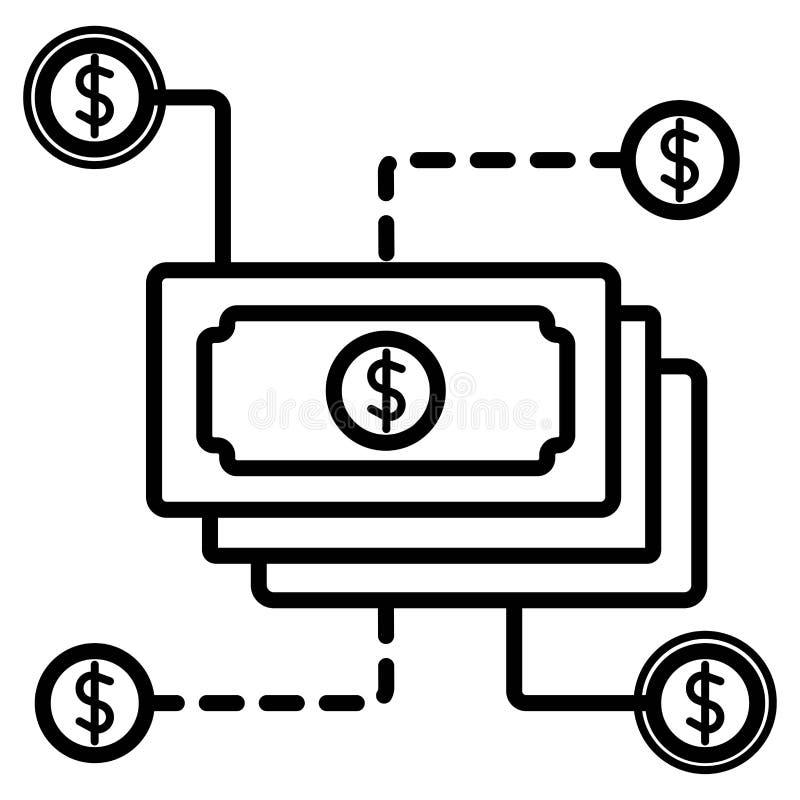 Icono del dinero Icono universal del efectivo ilustración del vector