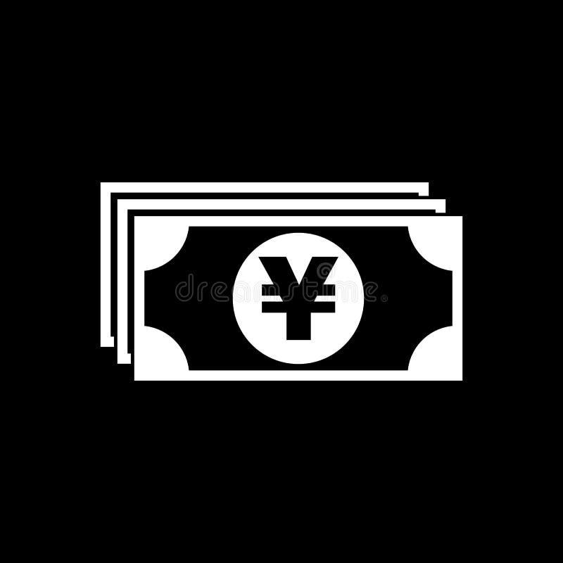 Icono del dinero Yenes y efectivo, moneda, moneda, s?mbolo del banco Dise?o plano Acci?n - vector libre illustration