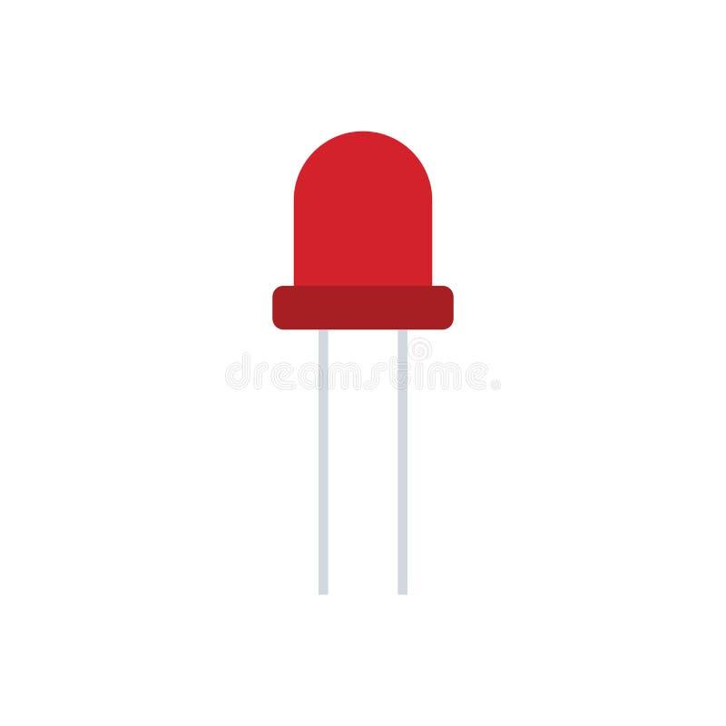 Icono del diodo electroluminoso ilustración del vector