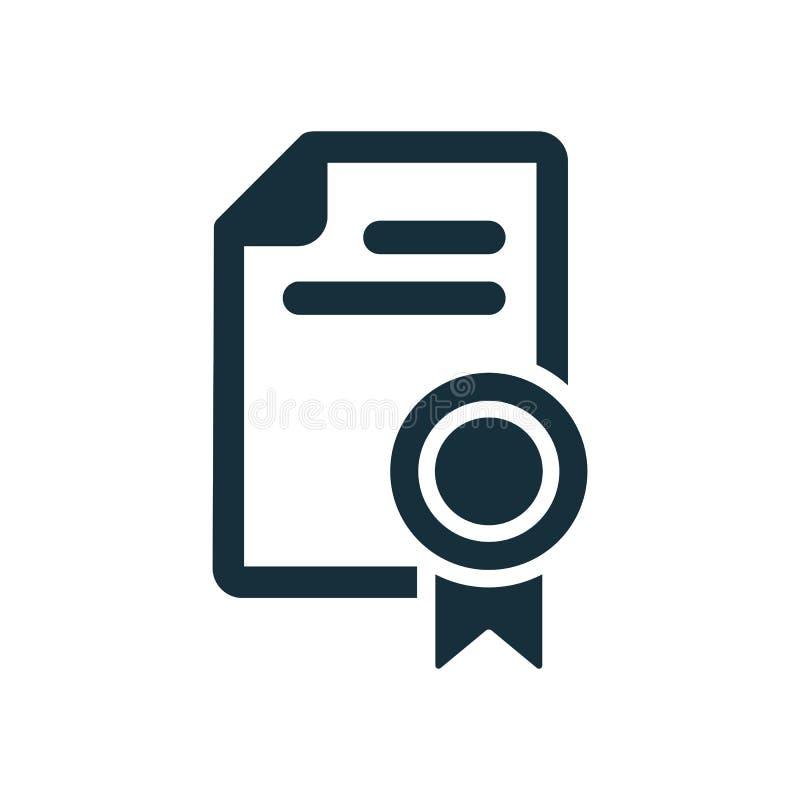 Icono del diploma del certificado ilustración del vector
