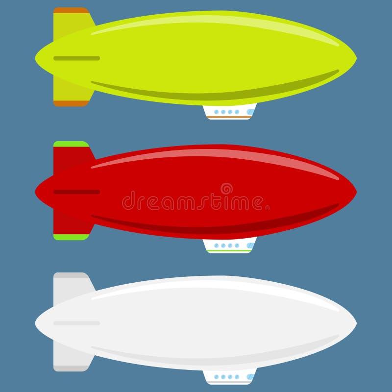 Icono del dirigible ilustración del vector