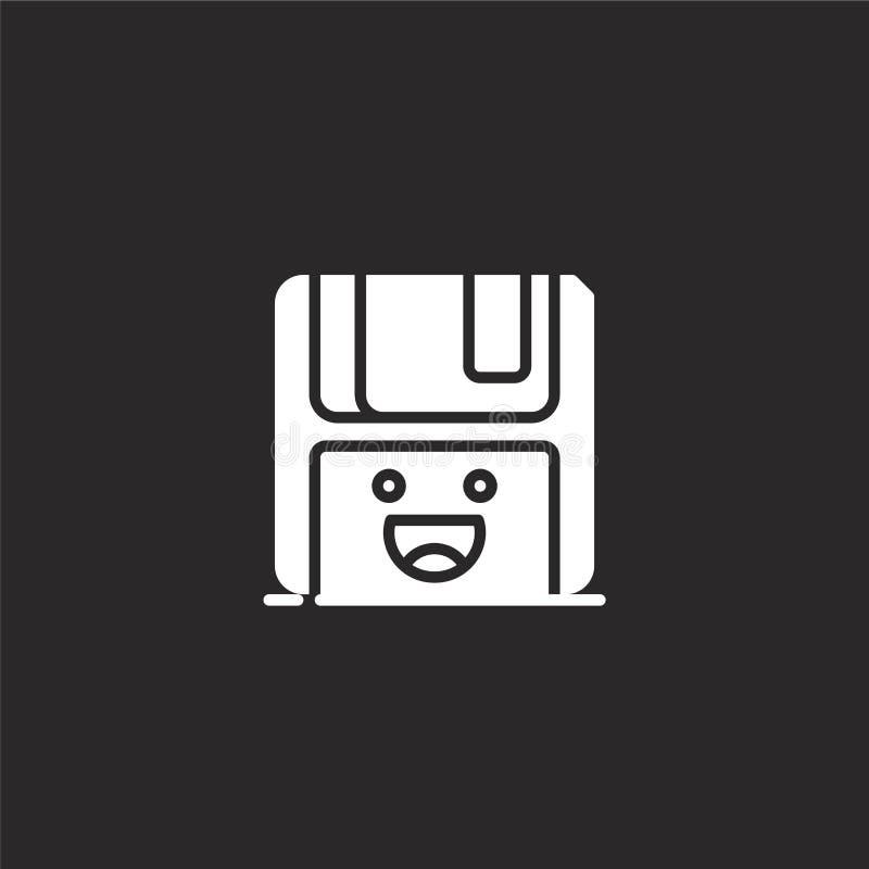 Icono del disco blando Icono del disco blando llenado para el diseño y el móvil, desarrollo de la página web del app icono del di ilustración del vector