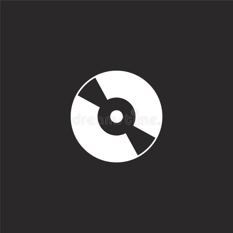 Icono del disco compacto Icono llenado del disco compacto para el diseño y el móvil, desarrollo de la página web del app icono de ilustración del vector