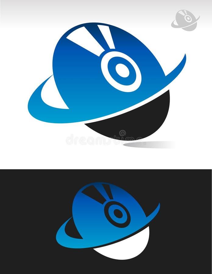 Icono del disco de Swoosh stock de ilustración