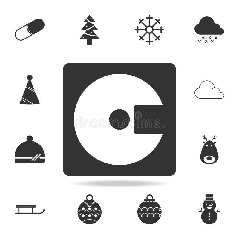 Icono del disco del disco duro Sistema detallado de iconos del web Diseño gráfico de la calidad superior Uno de los iconos de la  stock de ilustración