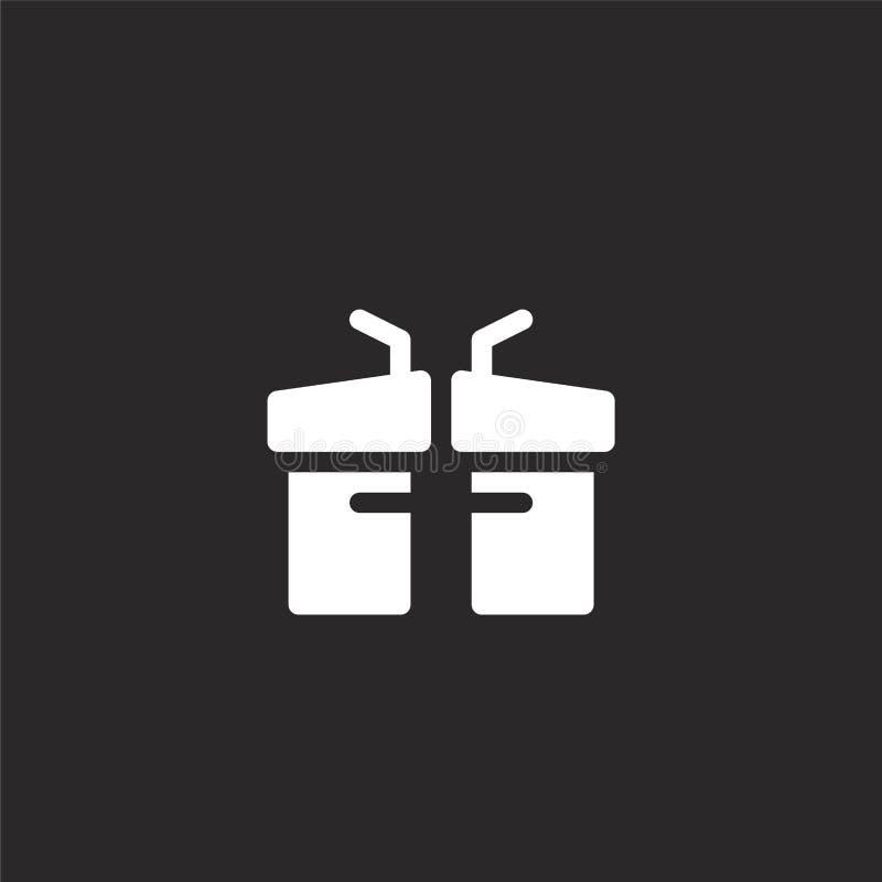 Icono del discusi?n Icono llenado del discusión para el diseño y el móvil, desarrollo de la página web del app el icono del discu stock de ilustración