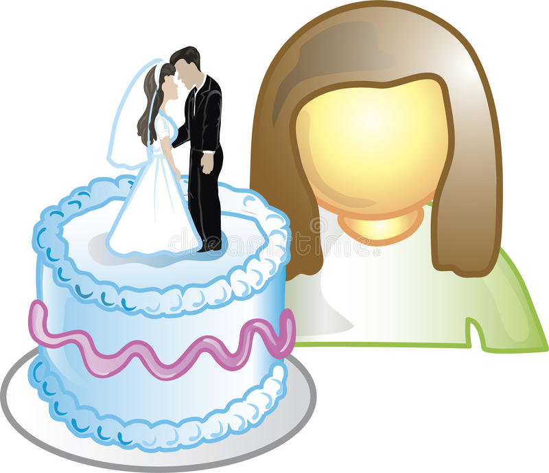 Icono del diseñador de la torta ilustración del vector
