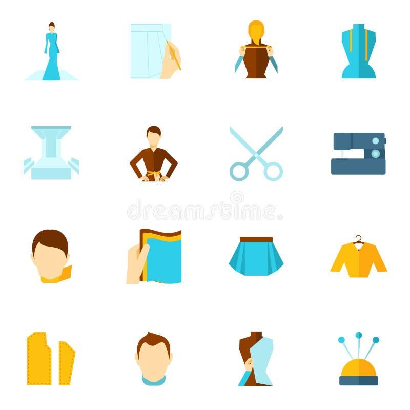 Icono del diseñador de ropa plano libre illustration