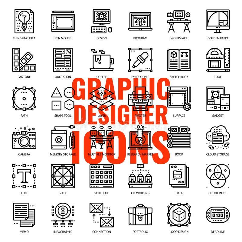Icono del diseñador gráfico libre illustration