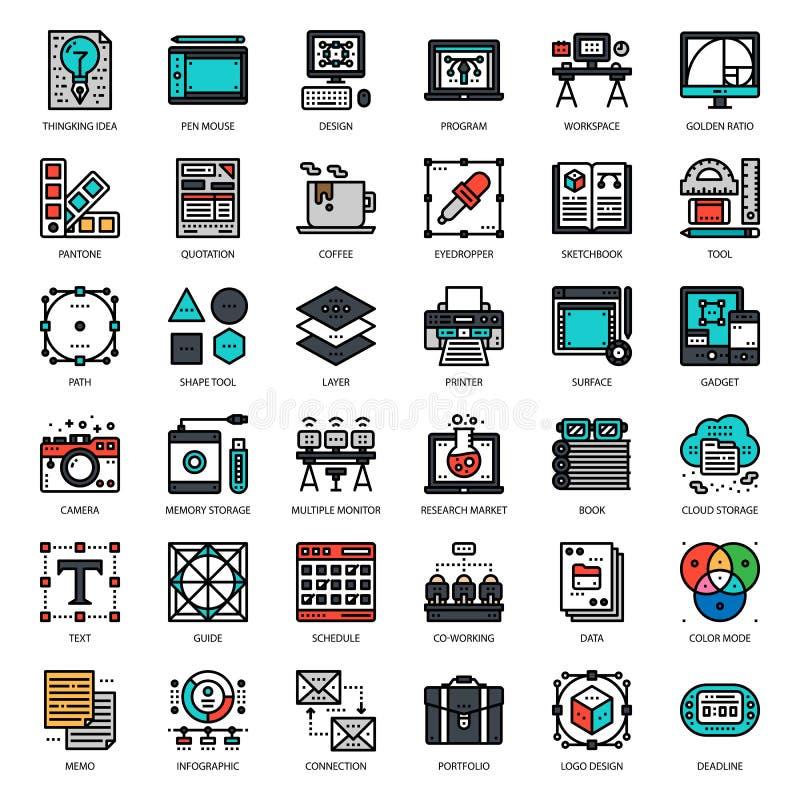 Icono del diseñador gráfico ilustración del vector