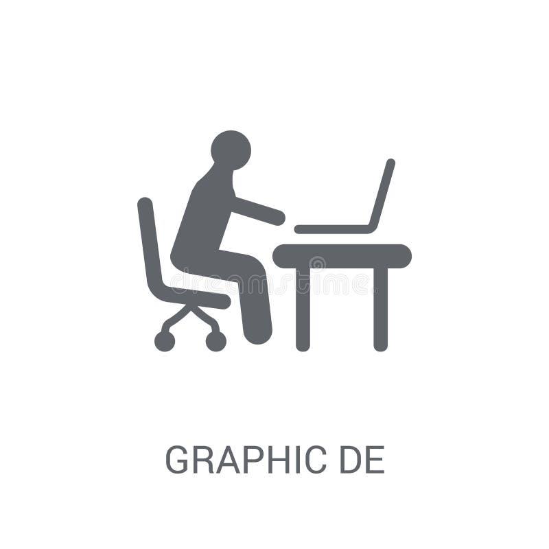 Icono del diseñador gráfico  stock de ilustración