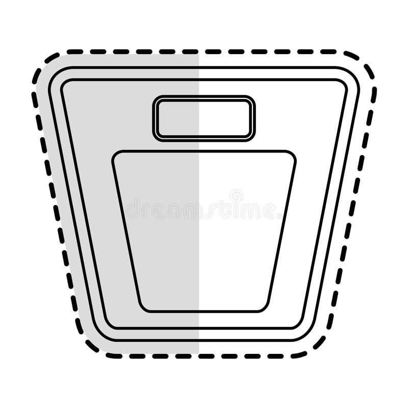 Icono del dispositivo de la escala del peso libre illustration