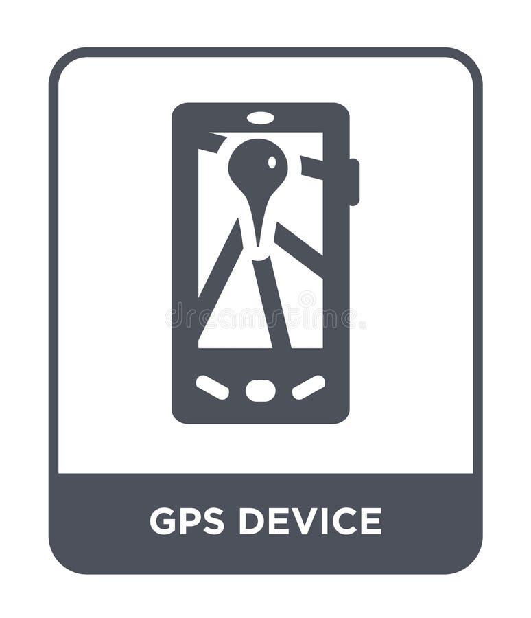 icono del dispositivo de los gps en estilo de moda del diseño icono del dispositivo de los gps aislado en el fondo blanco icono d stock de ilustración