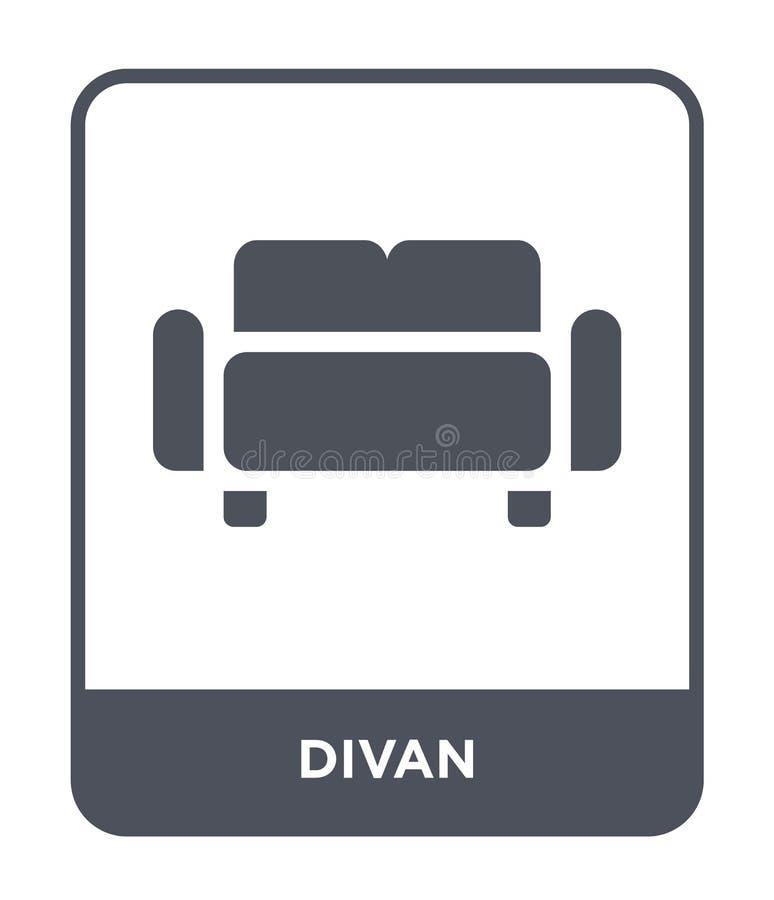 icono del diván en estilo de moda del diseño icono del diván aislado en el fondo blanco símbolo plano simple y moderno del icono  libre illustration