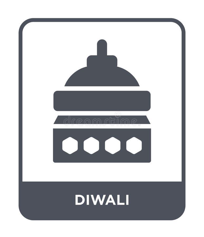 icono del diwali en estilo de moda del diseño icono del diwali aislado en el fondo blanco símbolo plano simple y moderno del icon stock de ilustración
