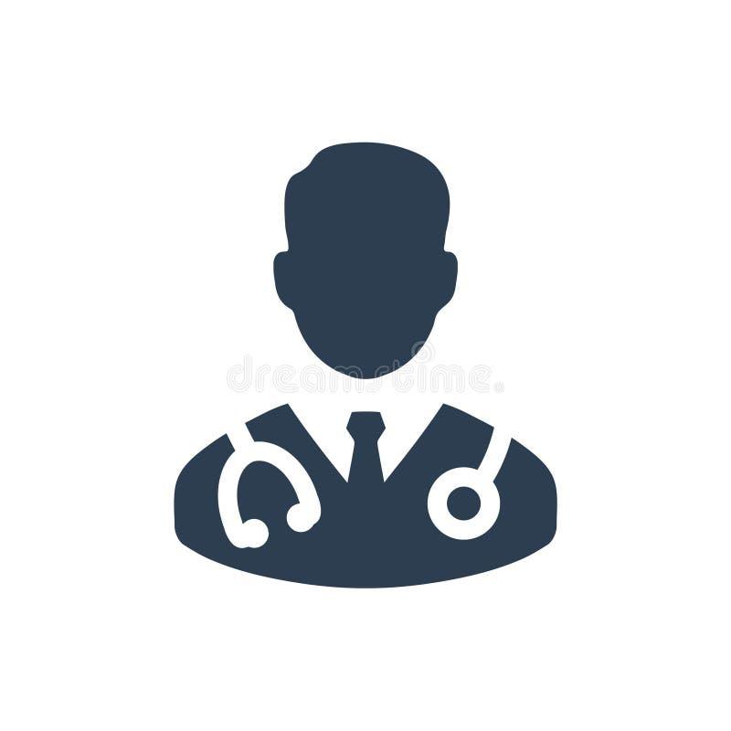 Icono del doctor stock de ilustración