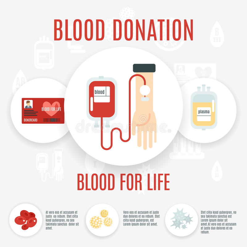 Icono del donante de sangre stock de ilustración