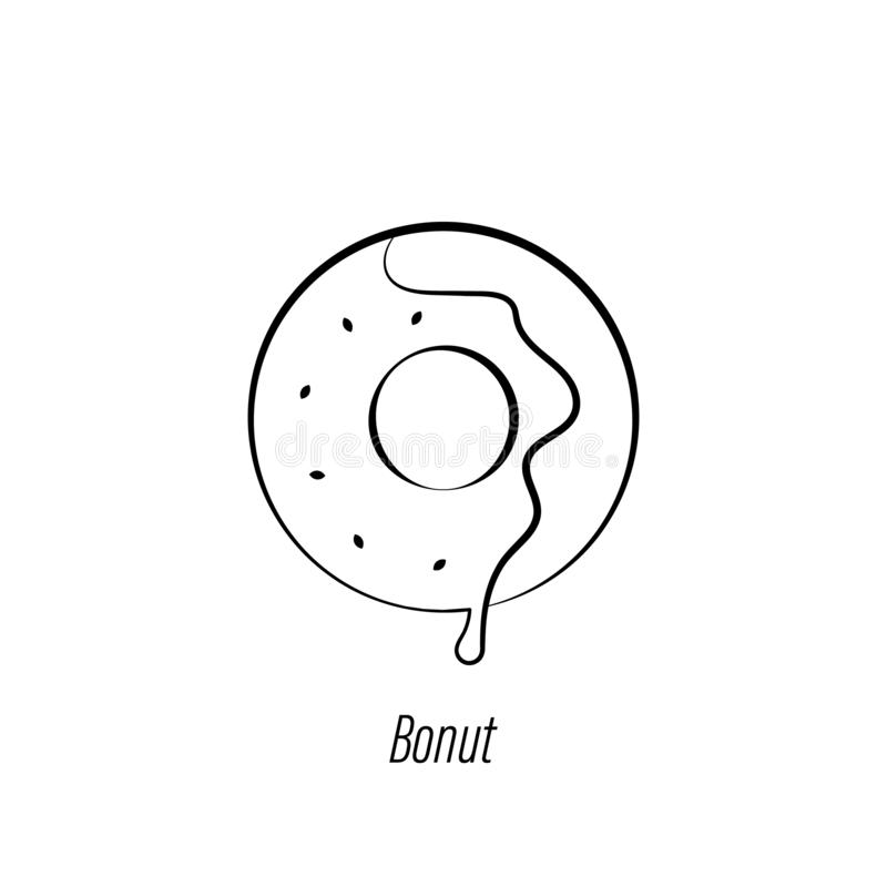 Icono del drenaje de la mano del bu?uelo del caf? r Las muestras y los s?mbolos se pueden utilizar para la web, logotipo, app m?v ilustración del vector