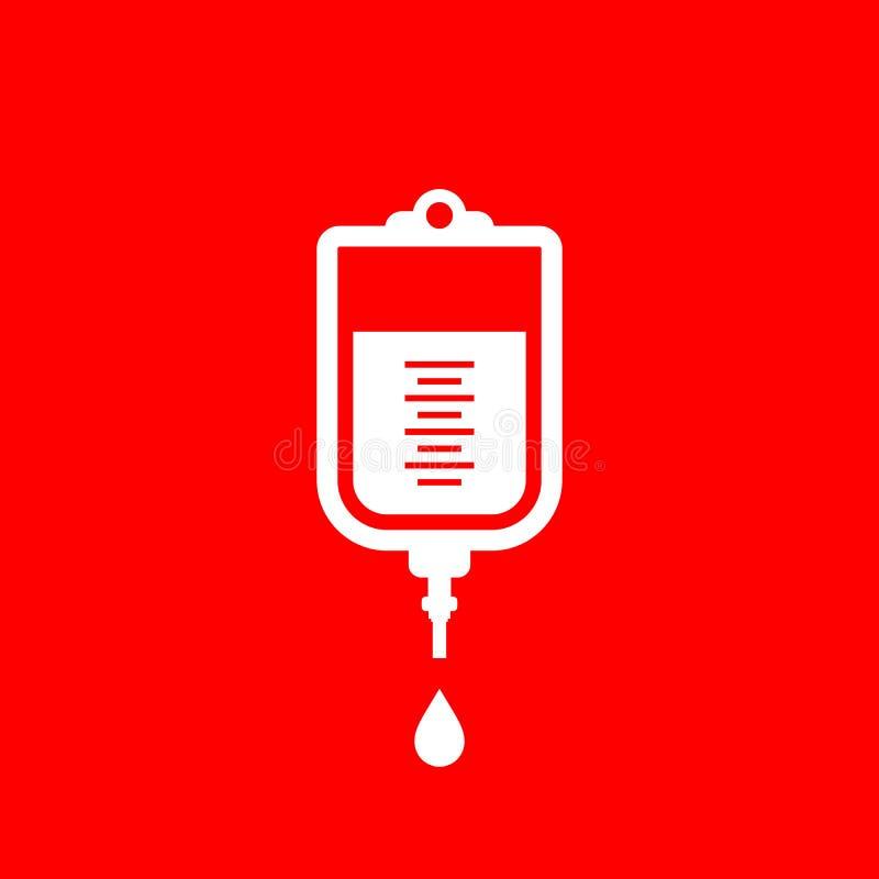 Icono del dropper del intravenoso de la sangre libre illustration