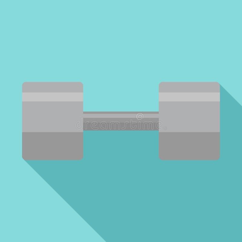 Icono del dumbell del gimnasio, estilo plano ilustración del vector