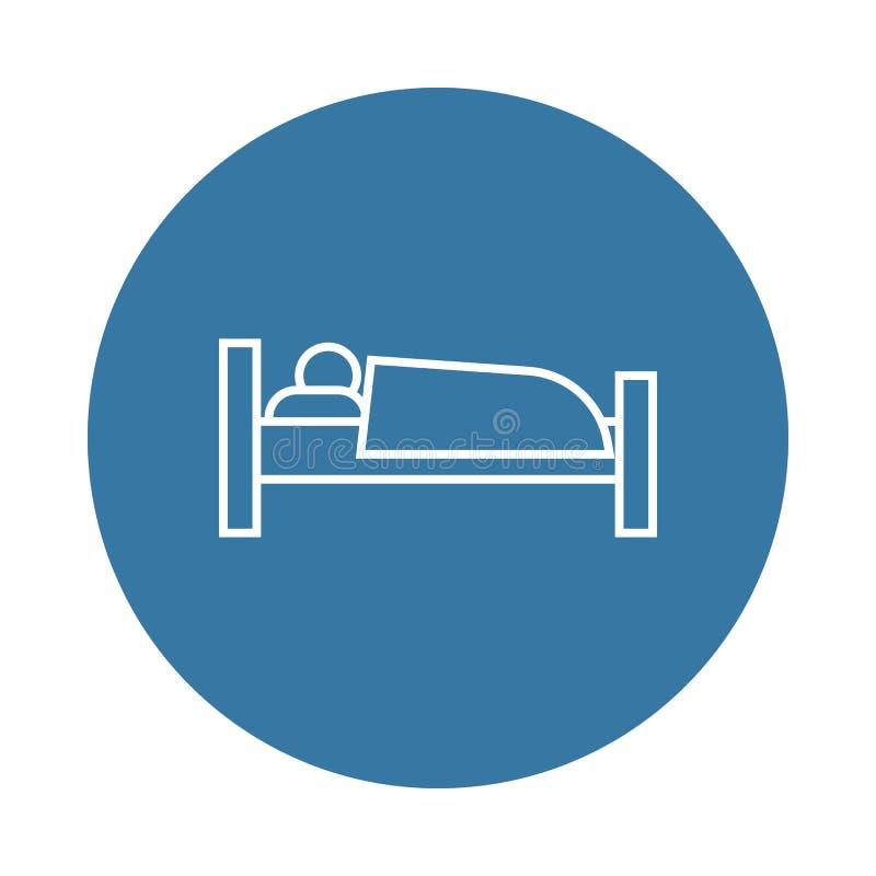icono del durmiente Elemento de los iconos del hotel para los apps móviles del concepto y del web El icono del durmiente del esti ilustración del vector