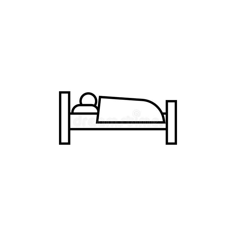 icono del durmiente Elemento del otel y de los moteles para los apps móviles del concepto y del web Línea fina icono para el dise ilustración del vector