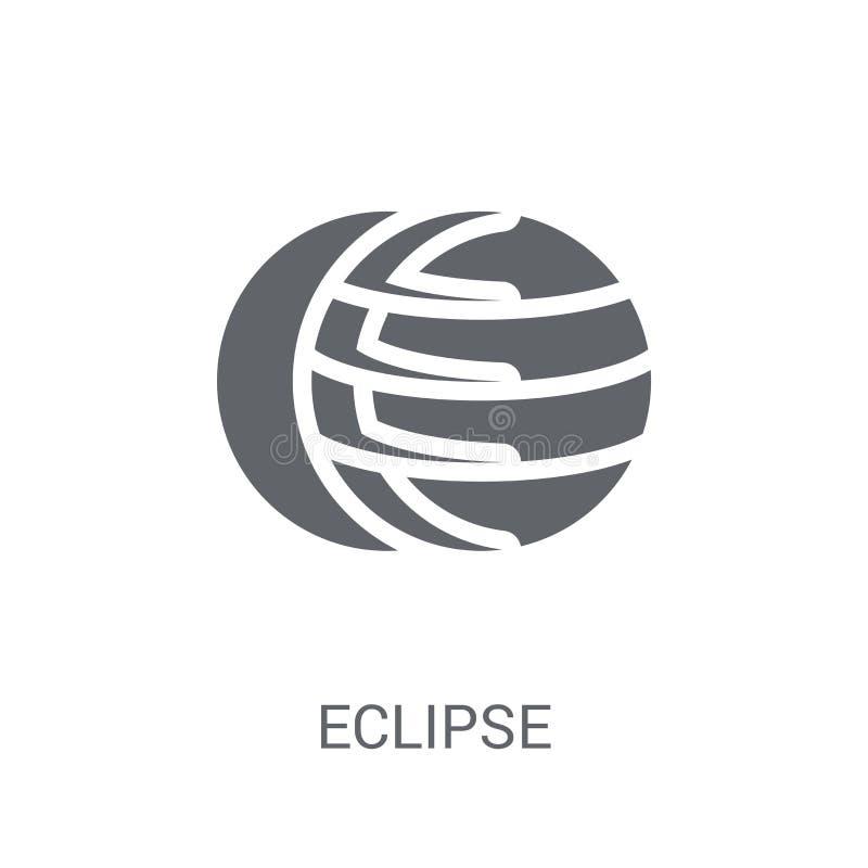 Icono del eclipse  stock de ilustración