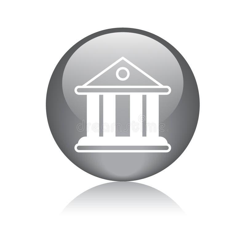 Icono del edificio del banco/de la corte stock de ilustración