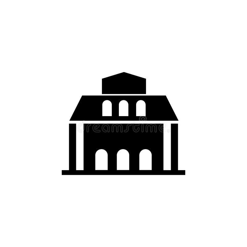 Icono del edificio de biblioteca libre illustration