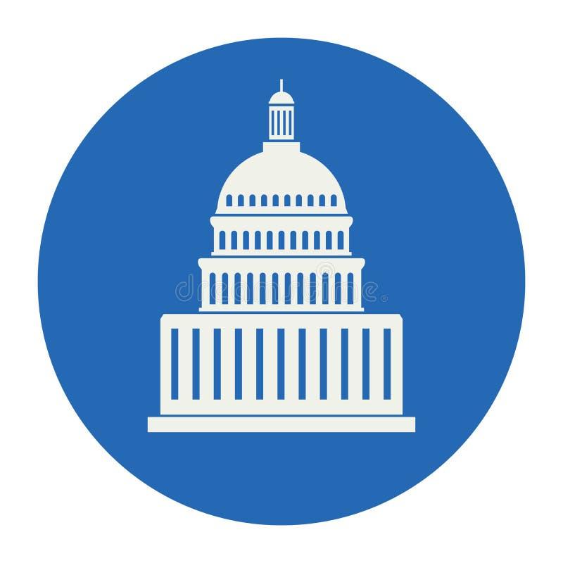 Icono del edificio de Estados Unidos Capitol Hill stock de ilustración