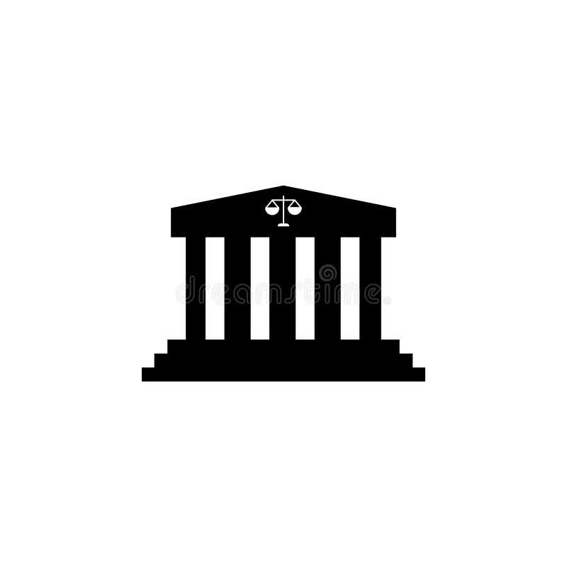 Icono del edificio de la corte libre illustration