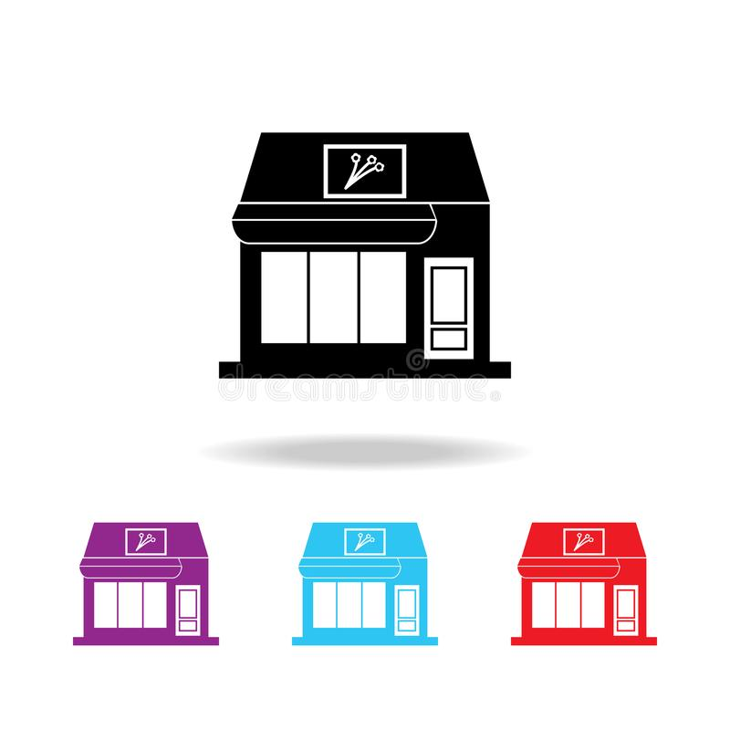 Icono del edificio de la floristería Elementos del edificio en los iconos coloreados multi para los apps móviles del concepto y d ilustración del vector
