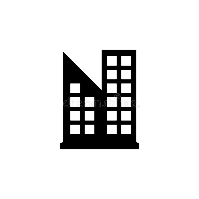 Icono del edificio de oficinas Elemento del icono del edificio para los apps móviles del concepto y del web El icono detallado de stock de ilustración