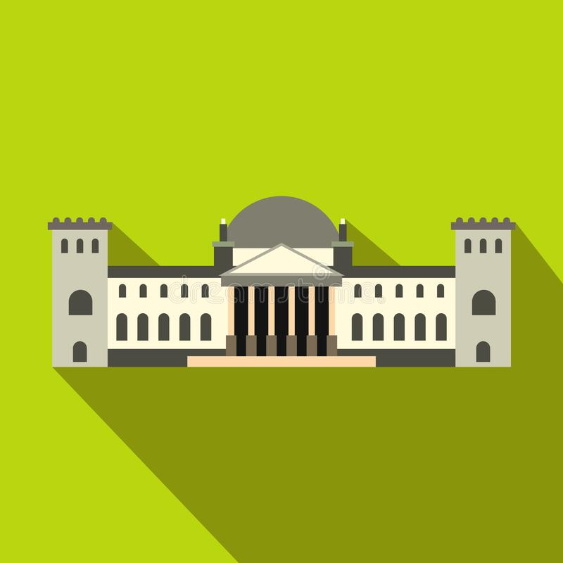 Icono del edificio de Reichstag del alemán, estilo plano libre illustration