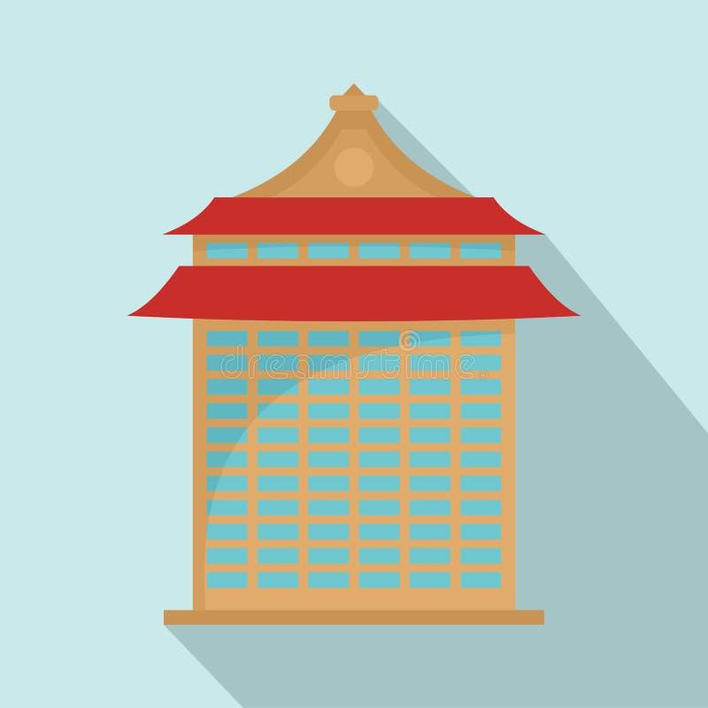 Icono del edificio de Taipei, estilo plano stock de ilustración
