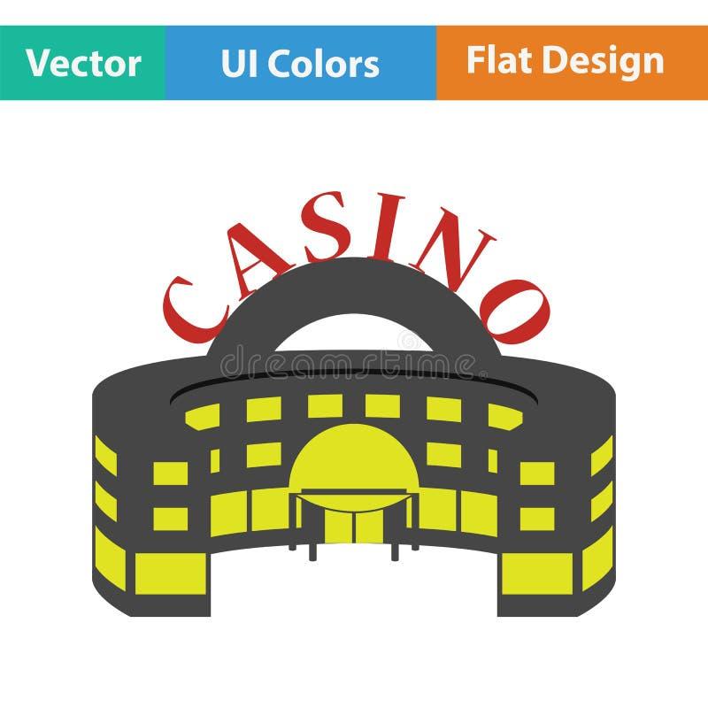 Icono del edificio del casino libre illustration