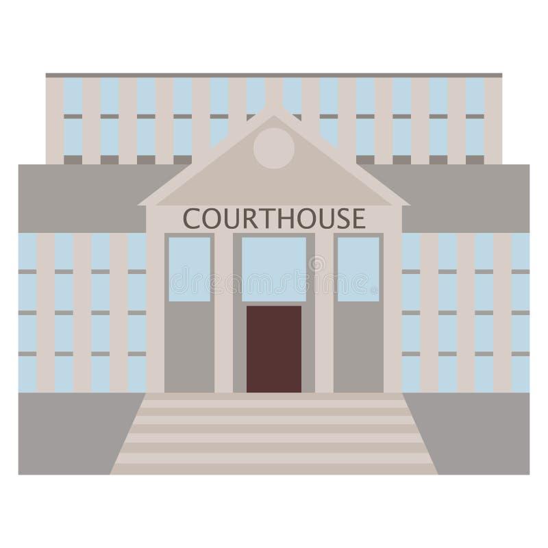 Icono del edificio del tribunal, ejemplo del vector ilustración del vector