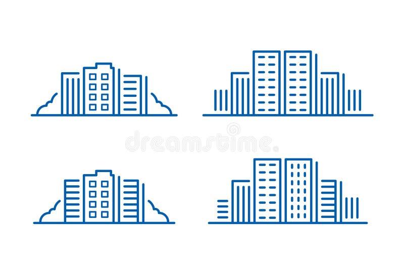 Icono del edificio, vector libre illustration