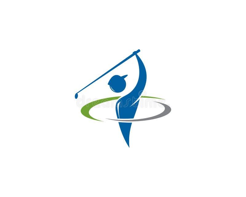 Icono del ejemplo del vector de Logo Template del golf libre illustration