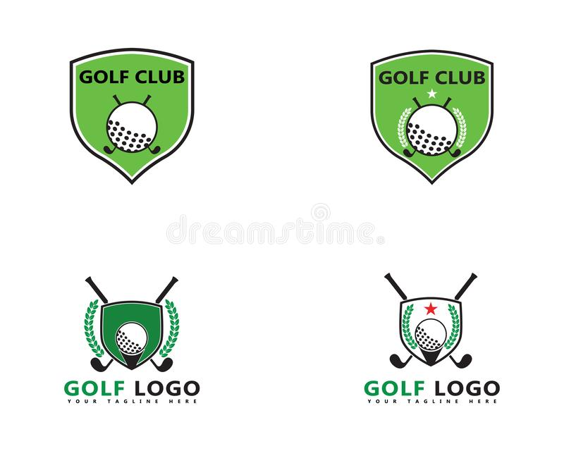 Icono del ejemplo del vector de Logo Template del golf libre illustration