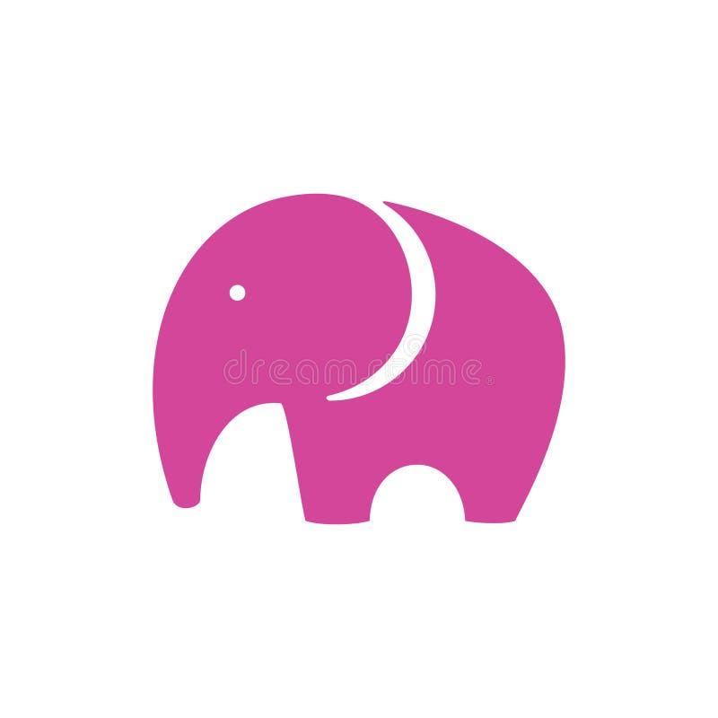 Icono del elefante rosado ilustración del vector