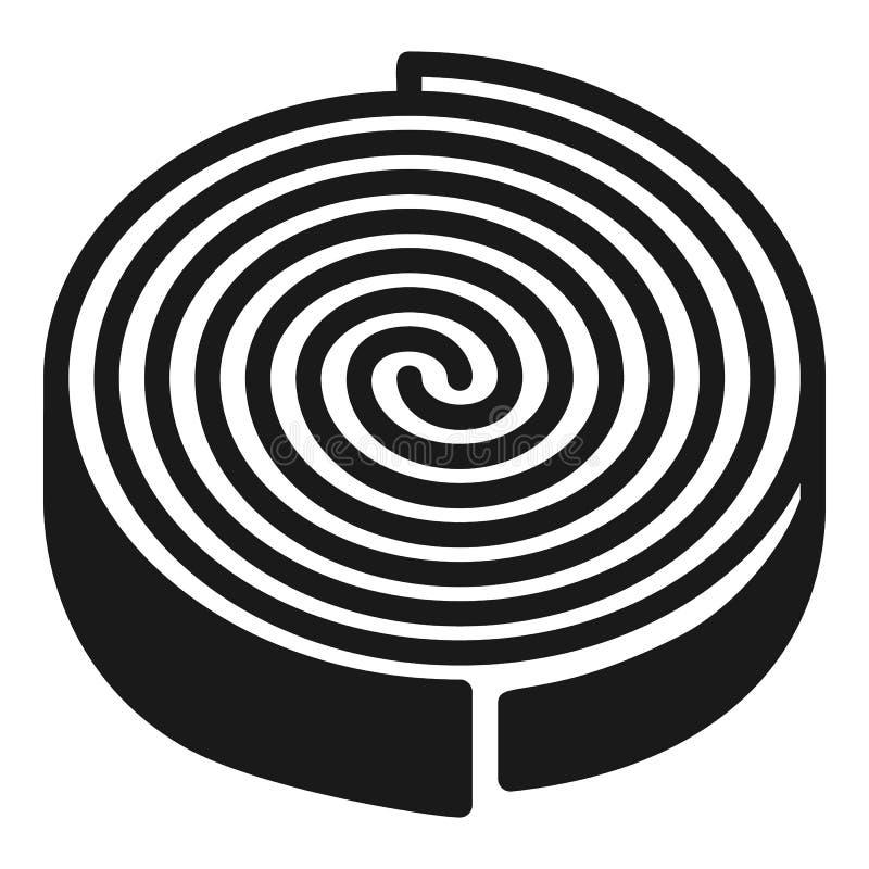 Icono del elemento de calefacción, estilo simple ilustración del vector